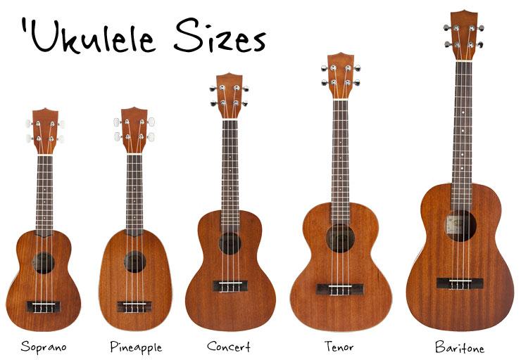ukulelesizes
